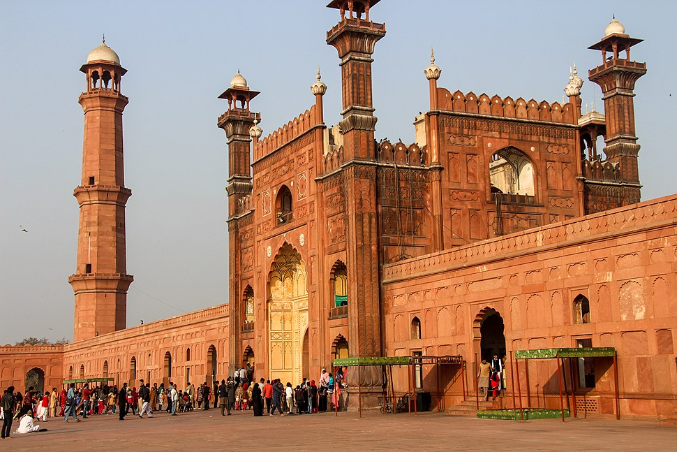 Entrance Gate of Badshahi Mosque, view from inside