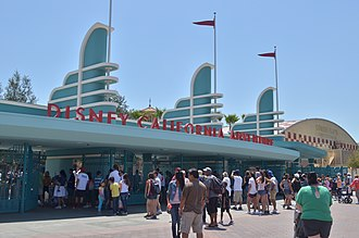 Pan-Pacific Auditorium - Entrance to Disney California Adventure, modeled after the Pan-Pacific Auditorium