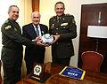 Entrega de reconocimiento a Joseph Blatter, presidente de la FIFA, por parte de la Policía Nacional de Colombia (6068913997).jpg