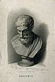 Epicurus. Stipple engraving by A. Cardon, 1813, after Craig. Wellcome V0001778.jpg