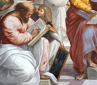 Major second - Detail of Raphael's School of Athens showing epogdoon diagram