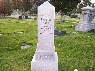 Erastus Snow - Grave marker of Erastus Snow.