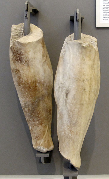 File:Ercole in riposo (ercole farnese), gambe di restauro di guglielmo della porta, XVI sec.JPG