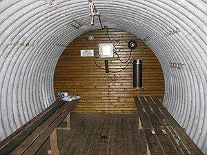 Esrange - Image: Esrange shelter at Vassejávri, interior