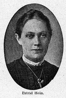 Estrid Hein Danish ophthalmologist, womens rights activist and pacifist