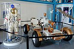 Eugene Cernan lunar suit and Lunar Roving Vehicle - Kennedy Space Center - Cape Canaveral, Florida - DSC02807.jpg