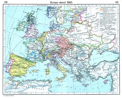 Europe about 1560