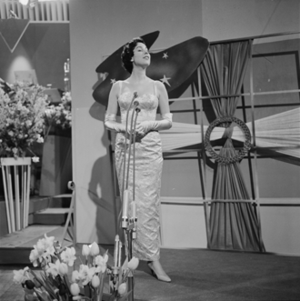 Heel de wereld - Image: Eurovision Song Contest 1958 Corry Brokken