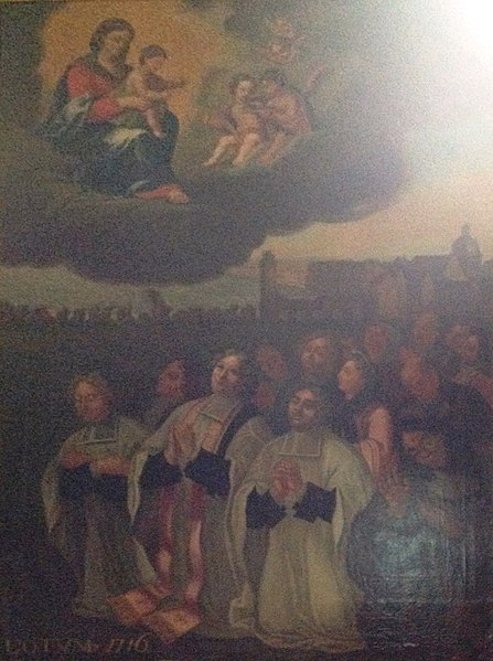 Ex-voto dédié à N.D des Aydes pour avoir protégé Vienne lors de la débacle de la Loire en en 1716. Le tableau original est conservé à Mareuil sur cher. Église Saint-Saturnin de Blois