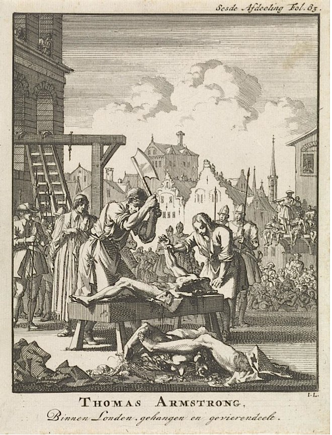 Execution of thomas armstrong 1683
