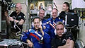 Expedition 41 crew greeting.jpg