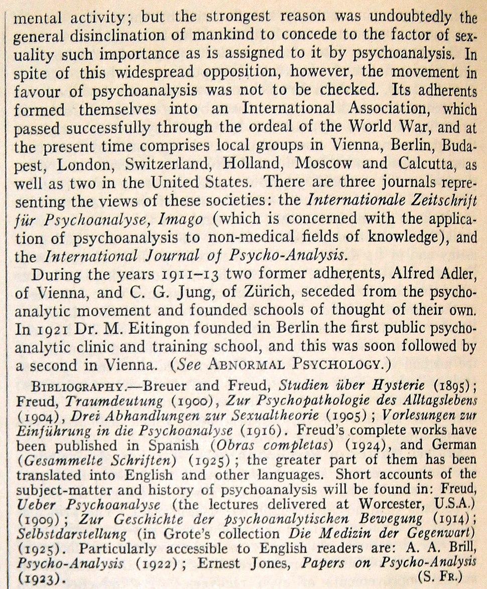 Extrait article Britannica 1928