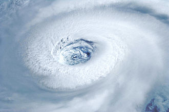 Hurricane Igor - Photograph of Hurricane Igor's eye on September 14 from the International Space Station