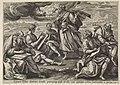 Ezra drinkt de beker van kennis en wijsheid Visioenen van Ezra (serietitel) Thesaurus sacrarum historiarum veteris testamenti (..) (serietitel), RP-P-OB-103.263.jpg