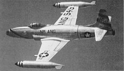 F-80B New Mexico ANG in flight.jpg
