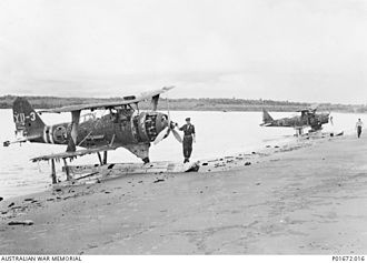 Mitsubishi F1M - Damaged F1M2s at Rekata Bay, 1944.
