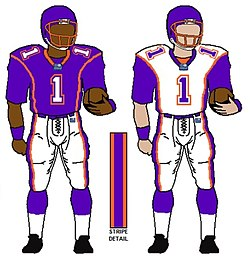 Football Uniformen der Frankfurt Galaxy