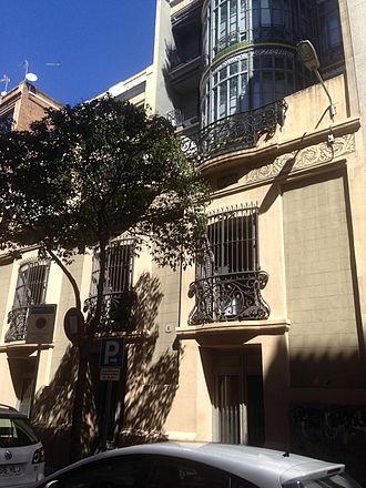 Casa Bonaventura Ferrer -  Casa Bonaventura Ferrer rear facade