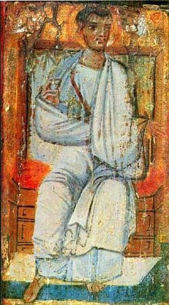 Acts of Thaddeus - Thaddeus of Edessa. Encaustic painting at Saint Catherine's Monastery, Mount Sinai