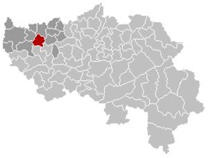 Faimes - Image: Faimes Liège Belgium Map