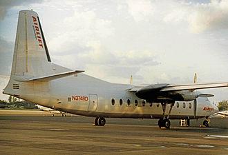 Airlift International - Airlift International Fairchild-Hiller FH-227C in 1989