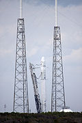 Falcon 9 following engine test fire for CRS-2 (KSC-2013-1688).jpg