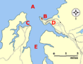 Falmouth map showing castles.png
