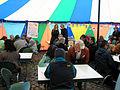 Familienkonferenz Hannover Nordstadt 160b3b Mütter und Väter im World Café im Zelt der Familienkonferenz.jpg