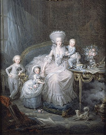 The young duke with his siblings and mother, the Countess of Artois (by Charles Leclercq, c. 1780-1782) Famille de la comtesse d'Artois.jpg
