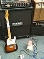 Fender 50's Relic Tele, EH Little Big Muff π and Mesa, Guitar shop in Dublin.jpg