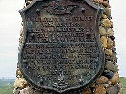 Inschrift am Denkmal