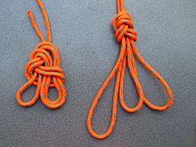 Klettergurt Aus Seil Knoten : Achterknoten schlaufe u wikipedia