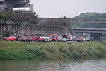 Fire Engines Parked at Nanhu Riverside Park South 20150204a.jpg