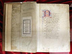 Filippo Villani - Dante's Comedy edited by Filippo Villani (1390-1405 ca.), Florence, Biblioteca Medicea Laurenziana
