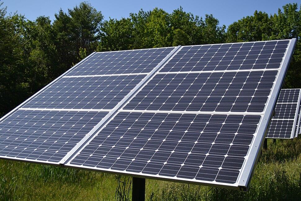 Fixed Tilt Solar panel at Canterbury Municipal Building Canterbury New Hampshire