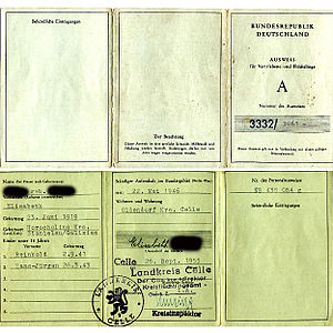 Refugee identity certificate