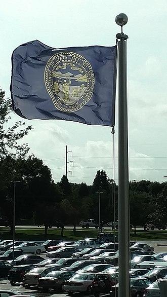 Flag of Nebraska - Image: Flag of Nebraska 21 August 2017