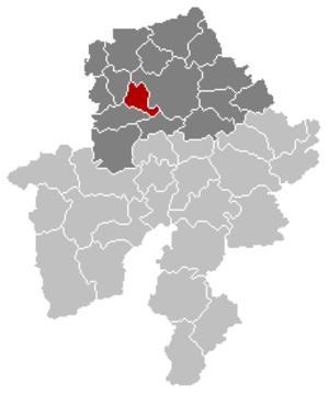Floreffe - Image: Floreffe Namur Belgium Map