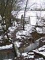 Footbridge and stile on High Weald Landscape Trail near Kemsdale House - geograph.org.uk - 1710267.jpg