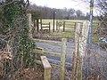 Footpath crosses Stede Hill Road - geograph.org.uk - 1169187.jpg