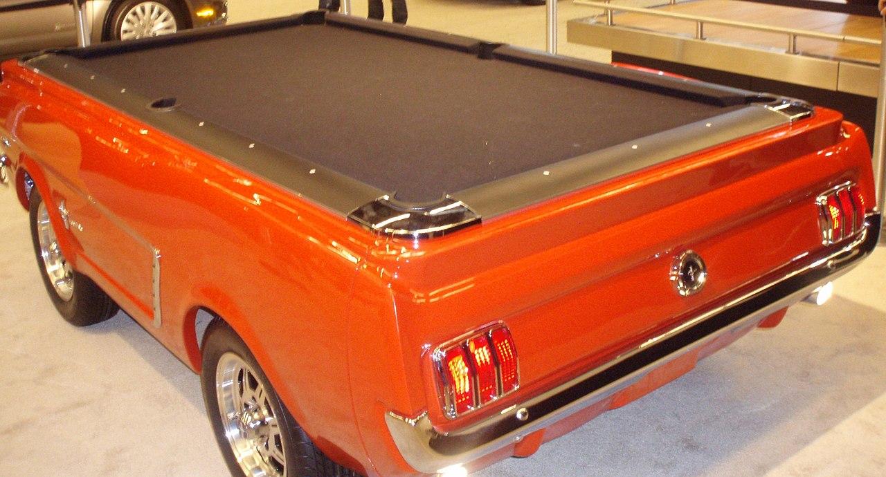 FileFord Mustang As Pool Table Rear MIAS Jpg Wikimedia - Normal pool table size
