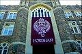 Fordham University main hall and banner 2013.jpg