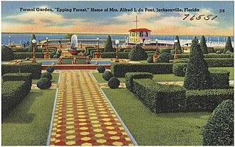 """Alfred I. du Pont - du Pont home """"Epping Forest"""" in Jacksonville, ca. 1930-1945"""