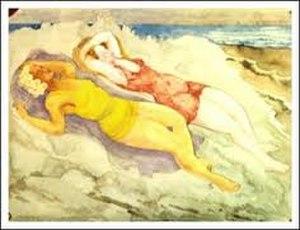 Carl Johan Forsberg - Sunbathers, painting by Carl Johan Forsberg