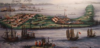 Dutch Empire - Overview of Fort Zeelandia on the island of Formosa, 17th century