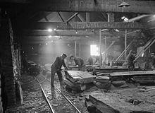 Foty Quarry, Blaenau Ffestiniog, 1950