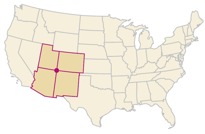 File:Four-corners-states.png - Wikimedia Commons on 4 corners united states, grand canyon states map, chaco culture national historical park, 4 corners states hotels, natural bridges national monument, mesa verde national park, rainbow bridge national monument, midwestern united states, navajo nation, west states map, 4 corners usa states, ancient pueblo peoples, united states 4 regions map, four corners monument, tri-state area, american history states map, 4 corners rivers, monument valley, western united states, painted desert, southwestern united states, durango and silverton narrow gauge railroad, canyon de chelly national monument, 4 corners states drawing, hovenweep national monument, four corners map, navajo language,