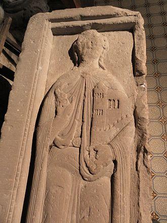 Etichonids - Image: Fr Moselle Hesse Eglise abbatiale gisant Hugues IV de Nordgau detail