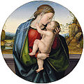 Fra Bartolommeo - The Madonna and Child. Oil on panel (tondo).jpg