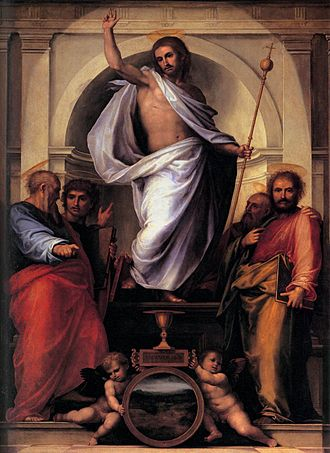 Fra Bartolomeo -  Fra Bartolomeo: Christ with the Four Evangelists